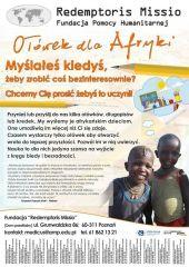 Ołówek dla Afryki - plakat