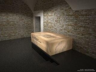 Wizualizacja sarkofagu pary prezydenckiej Lecha i Marii Kaczyńskich