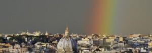 Tęcza nad Rzymem. Zdjęcia Włoch.