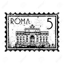 ROMA znaczek pocztowy Włochy Rzym