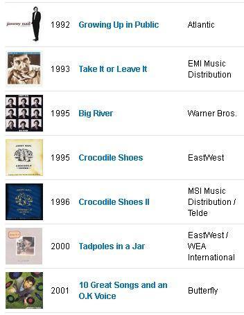 Jimmy Nail - Discography