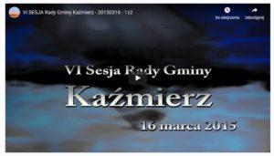 Rada Gminy Kaźmierz, sesje relacje uchwały
