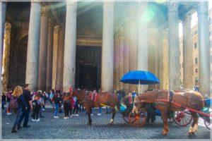 Konie w Rzymie Pantheon Cavalli a Roma