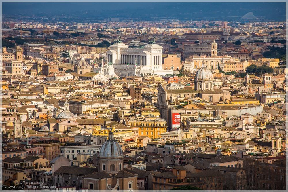 Panorama Rzymu widziana z Bazyliki Św. Piotra