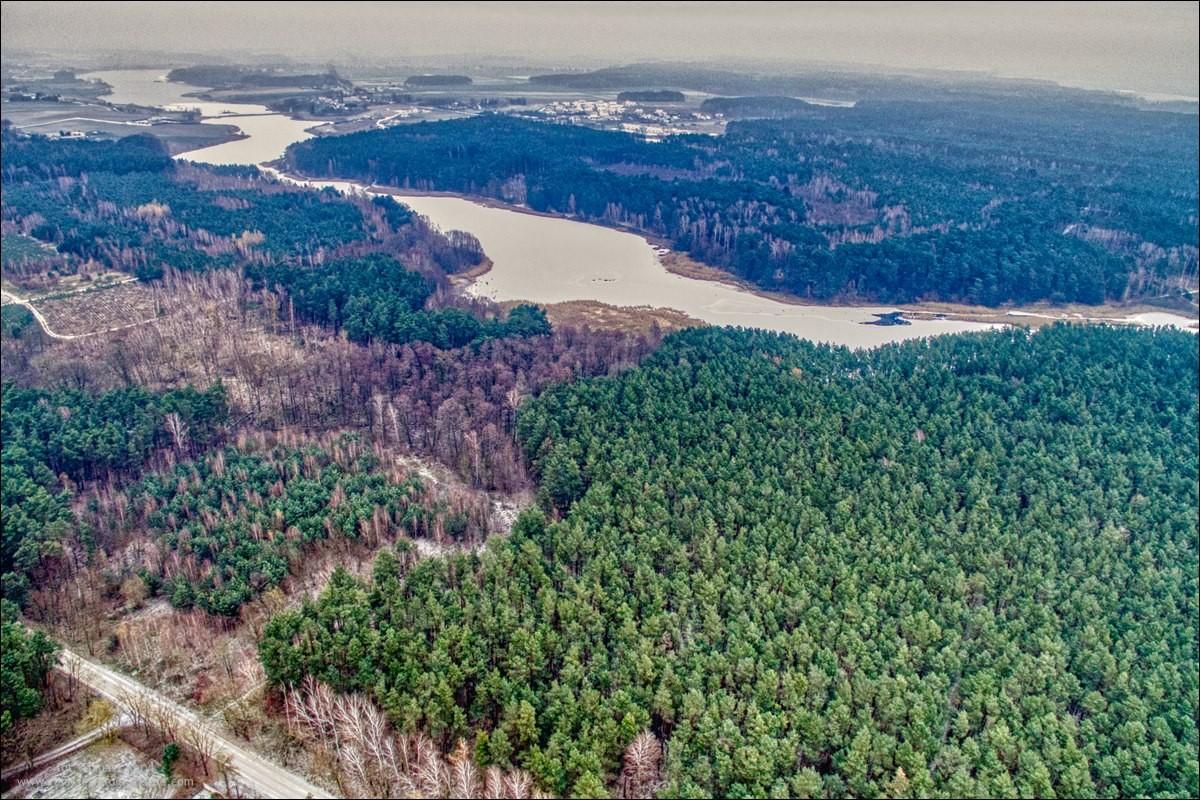 Gmina Kaźmierz z drona, zdjęcia z powietrza