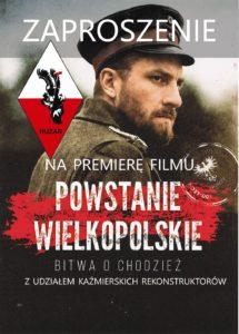 """Powstanie Wielkopolskie. Bitwa o Chodzież - ZAPROSZENIE na premierę filmu - SMH """"HUZAR"""""""