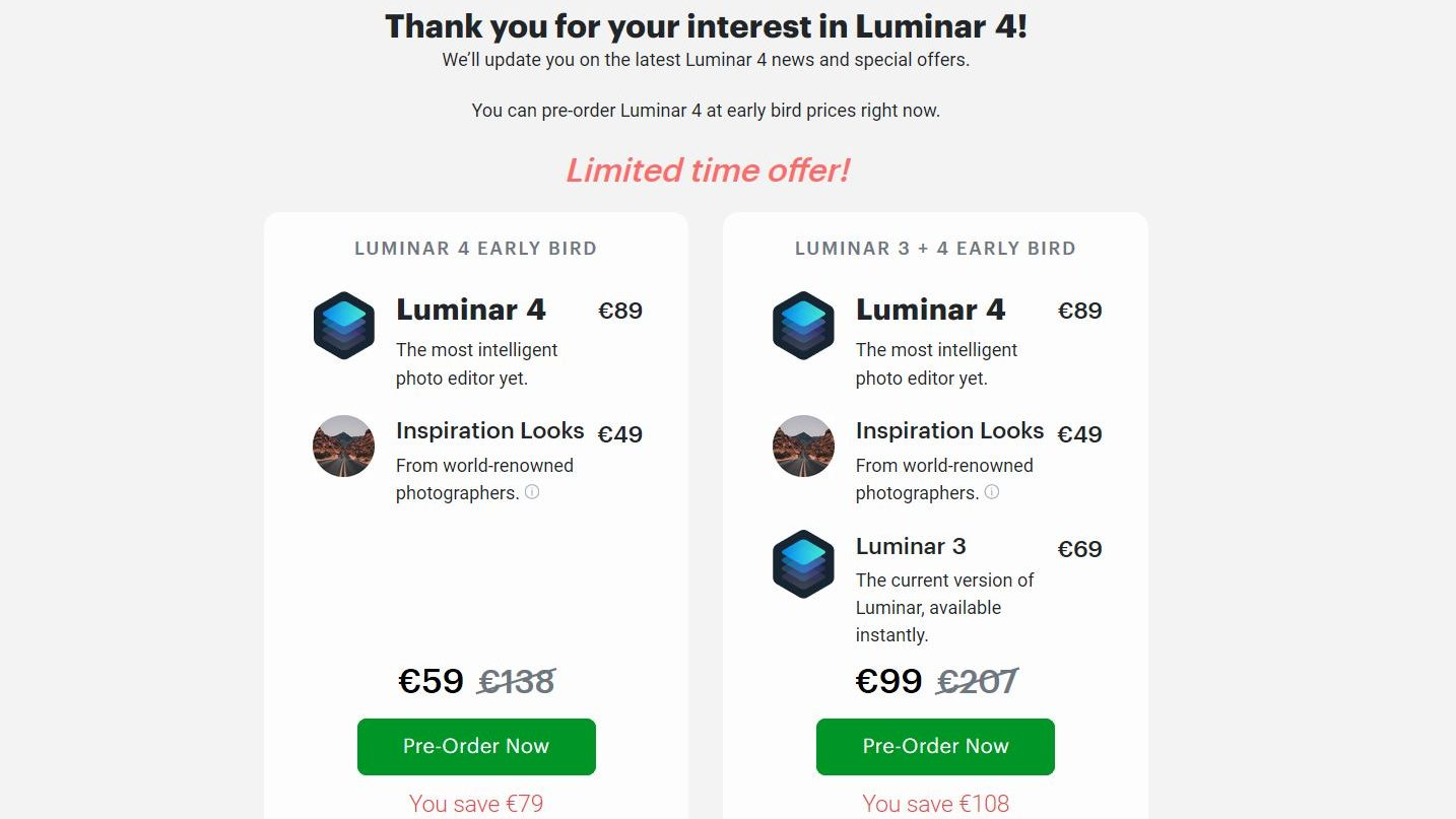 New Luminar 4 with AI Sky Replacement