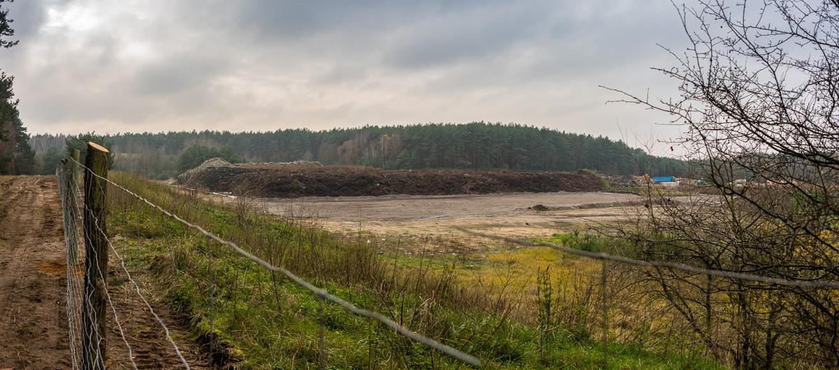 Dęborzyce, Pniewy - osady ściekowe z Oczyszczalni Ścieków Czajka