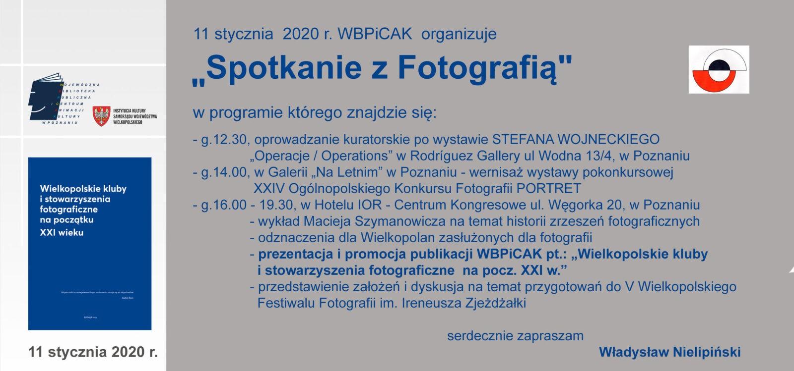 Spotkanie z fotografią. Poznań 11.01.2020