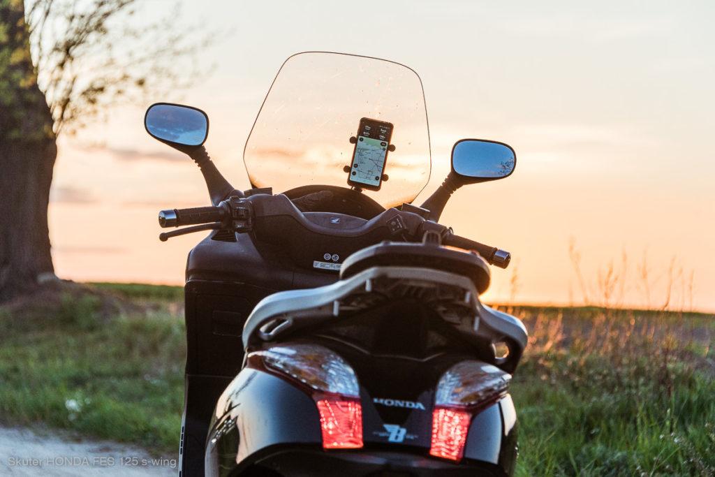 Aplikacja nawigacja dla motocyklistów CALIMOTO #calimotour  Honda s-wing FES 125