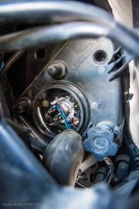 Regulacja świateł w skuterze. Honda s-wing FES 125 ccm.