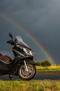 #piaggiox10 - Jazda skuterem w deszczu - Piaggio x10 350