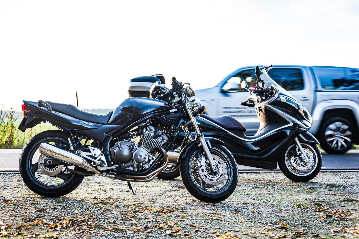 Autumn scooter / motocycle ride #piaggiox10, #piaggiox10350 and #yamahaxj600n #calimotour