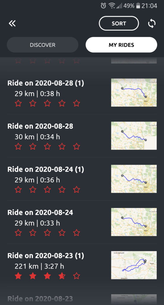 Nawigacja Calimoto RIDES- trasy motocyklowe