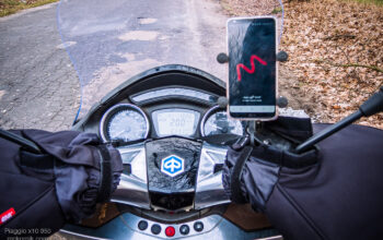 Motorcycle muffs with hand-guards GIVI TM421, TOURING URBAN - mufki na skuter Piaggio x10 350 - mckornik.com #calimotour