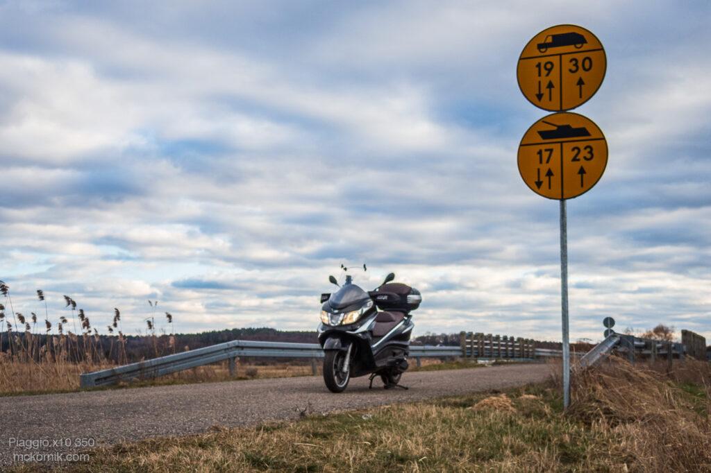 Marcowa trasa motocyklowa- skuter #piaggiox10350 #calimotour fot. Tomasz Koryl
