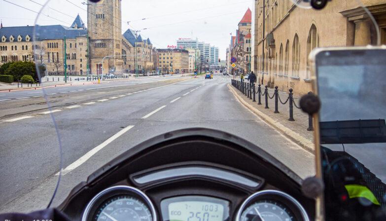 kwietniowa trasa motocyklowa