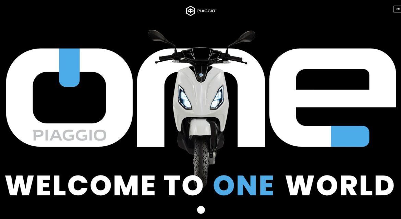 Nowy elektryczny skuter Piaggio ONE  #PiaggioONE