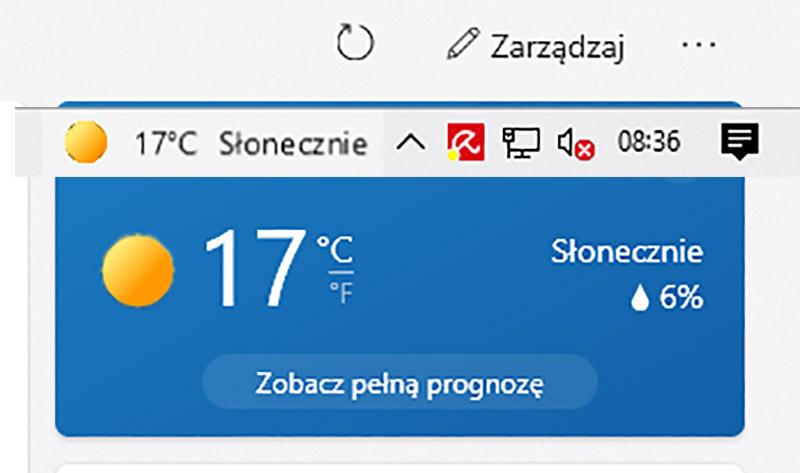Windows 10 Pasek zadań Pogoda wiadomości – jak usunąć